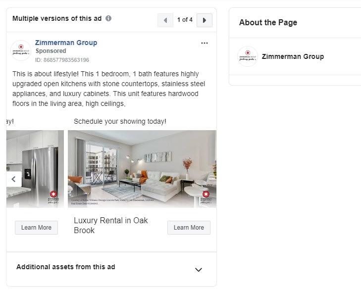 real estate Facebook ad