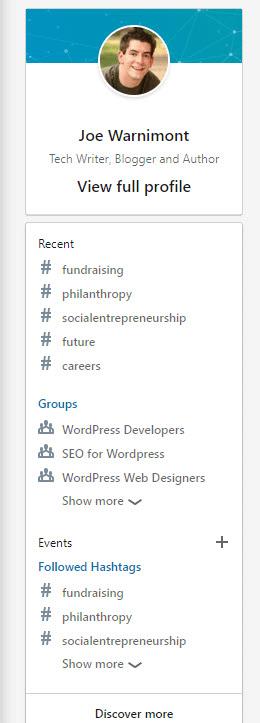 suggested profile hashtags