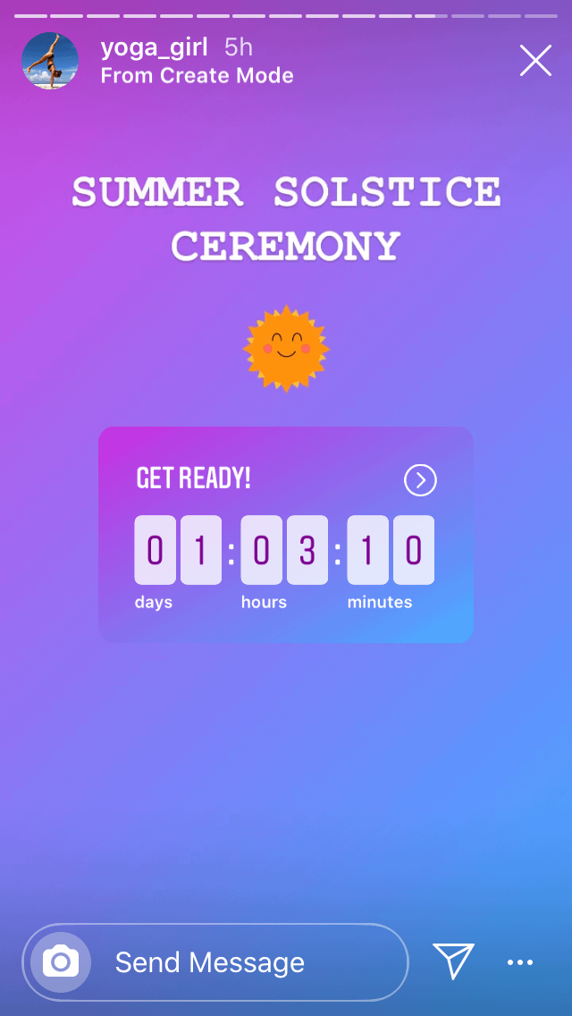 countdown for Instagram story polls