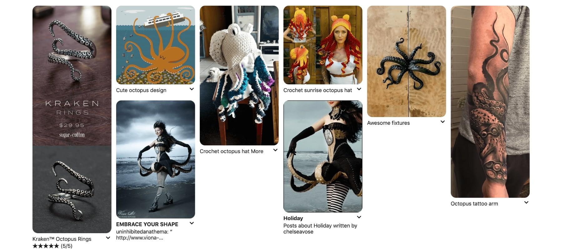 Vertical images in Pinterest.