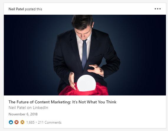 neil patel LinkedIn articles