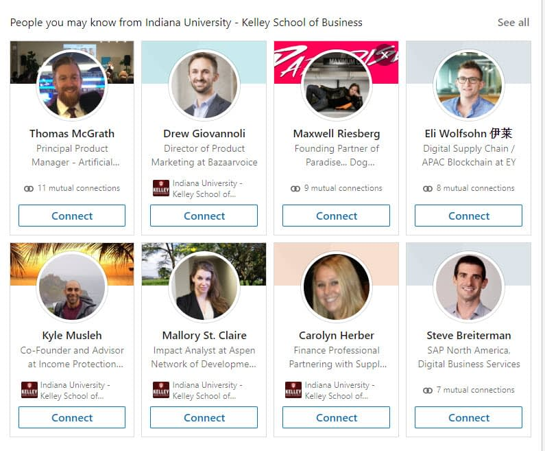 school LinkedIn networking