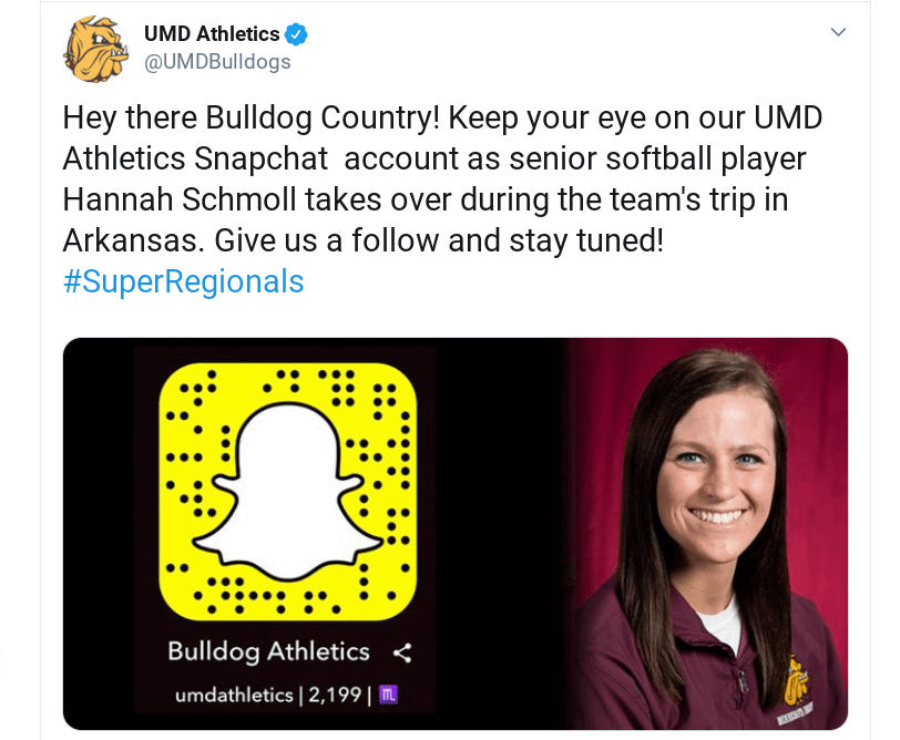 A tweet from UMD athletics.