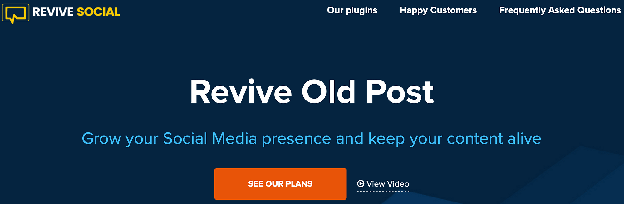 A screenshot of the Revive Old Posts plugin.
