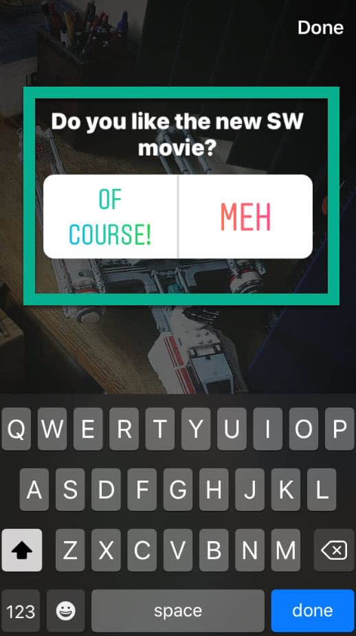 meh answer - Instagram story polls