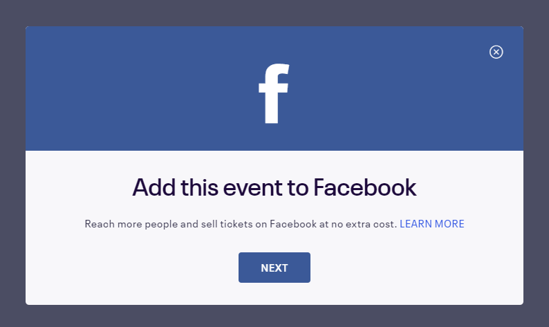 Add your event to Facebook