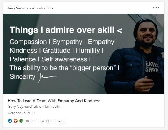 gary LinkedIn articles