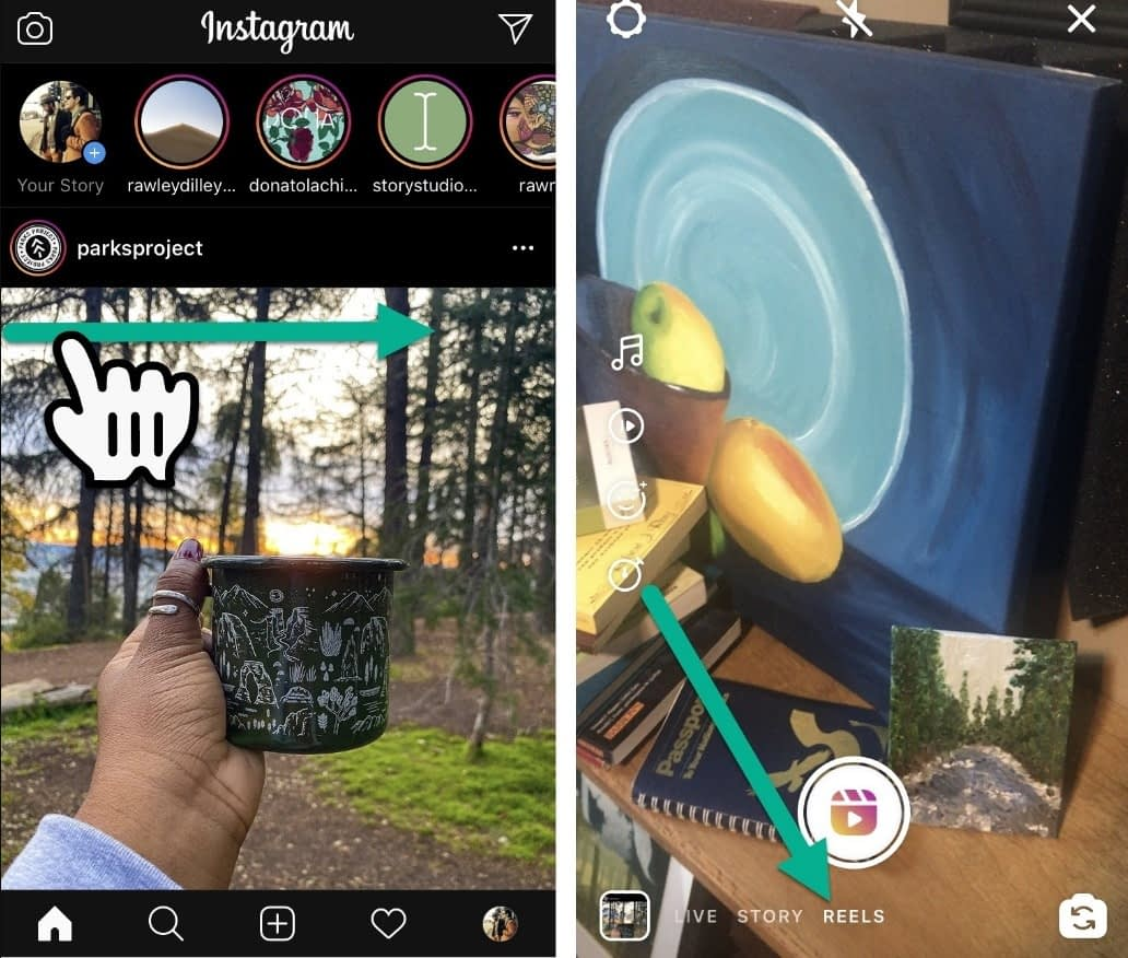 How to find Instagram Reels