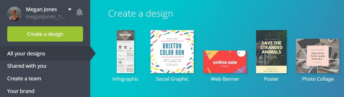 How to make infographics with Canva - Create a Design