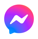 The social media icon for the Messenger app
