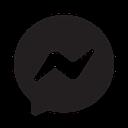 Black and white Messenger icon