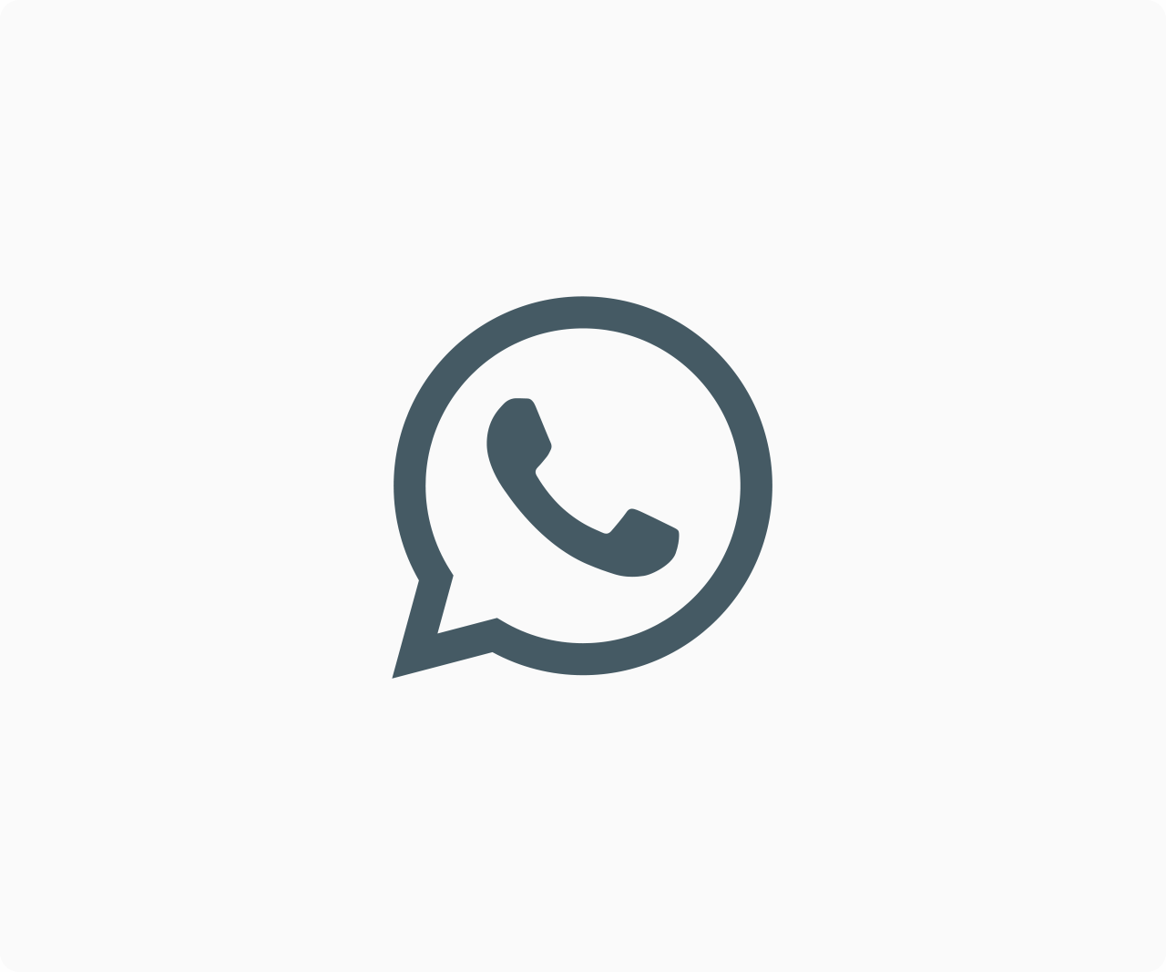 WhatsApp icon black and white