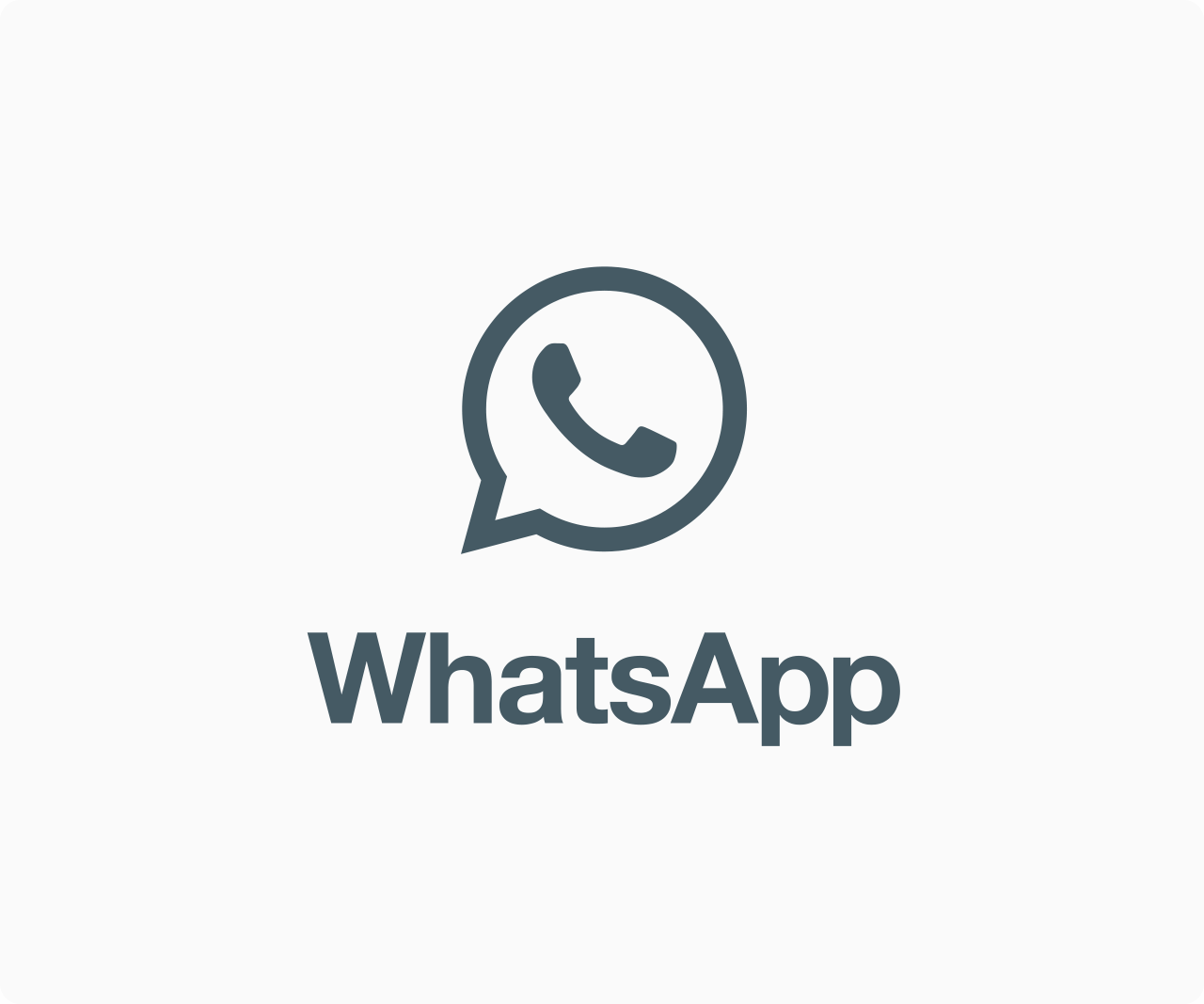 WhatsApp icon with wordmark