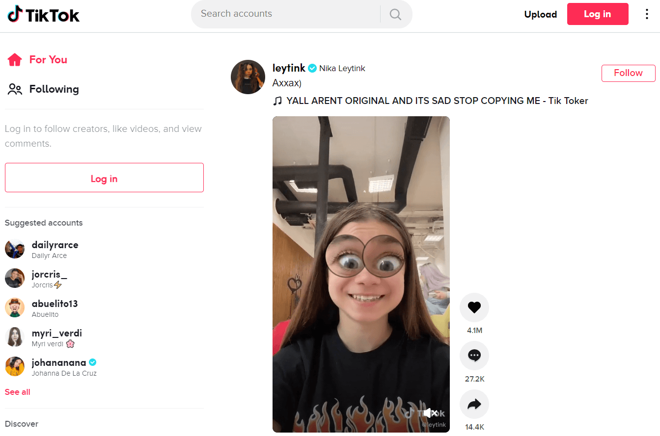 The TikTok homepage gives a hint to which TikTok content ideas work best