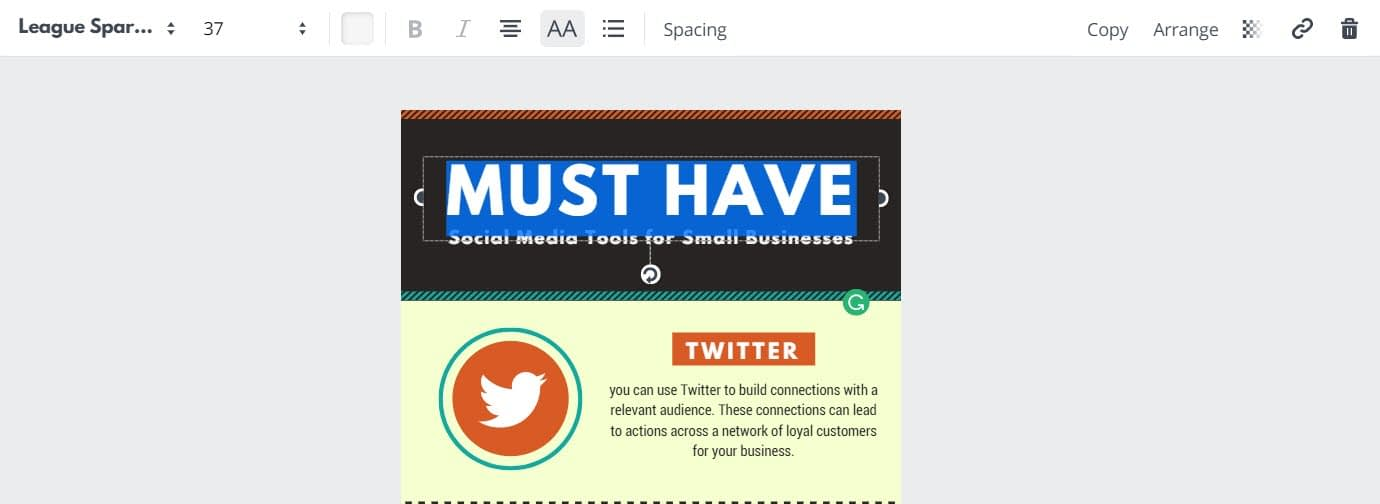 How to make infographics with Canva - Edit layout