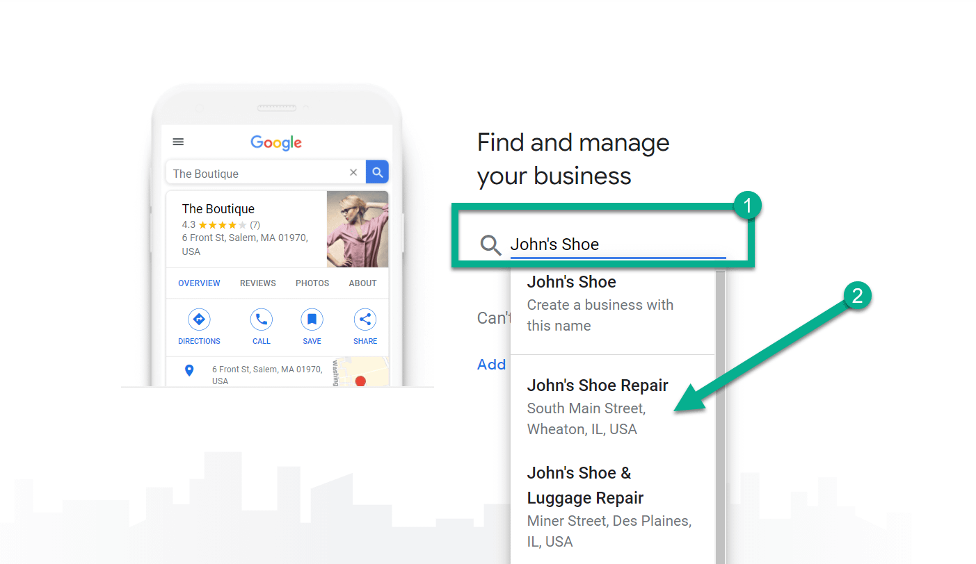 how to use Google My Business to search for business