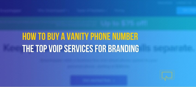 Buy a vanity phone number