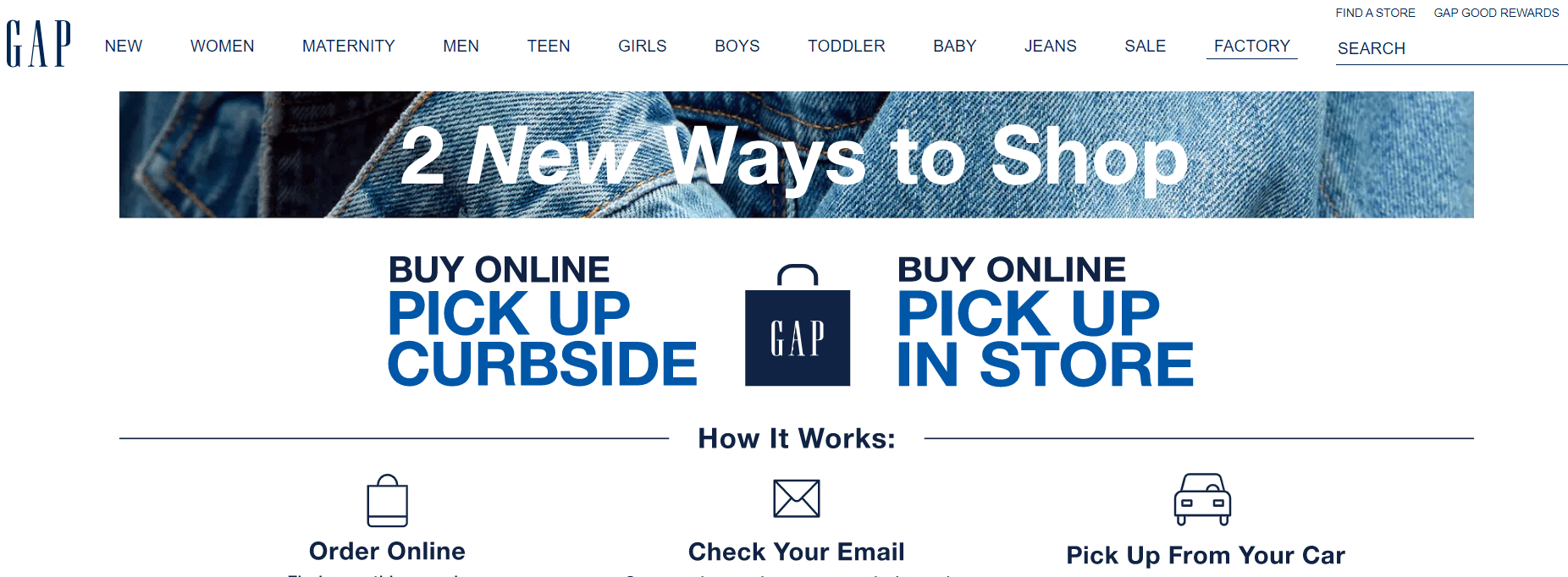 An example of omnichannel marketing from Gap.