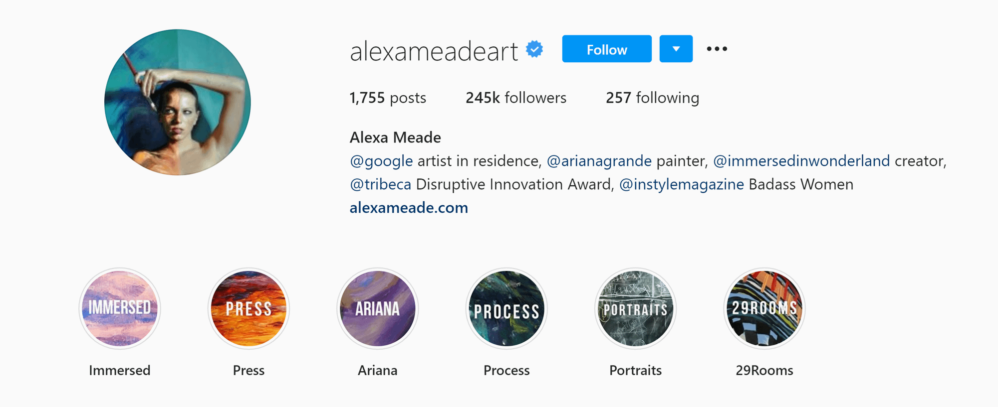 How to Get Verified on Instagram: Alexa Meade Highlights