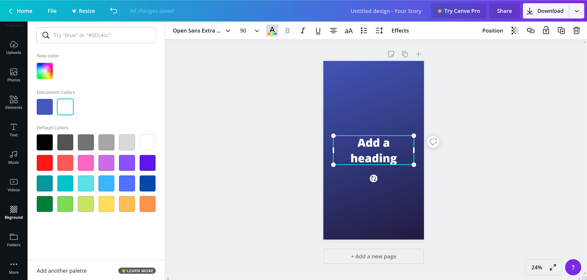 Instagram Highlights Covers: Adding text in Canva
