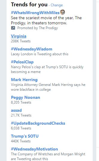 Instagram hashtags –Twitter trending hashtags