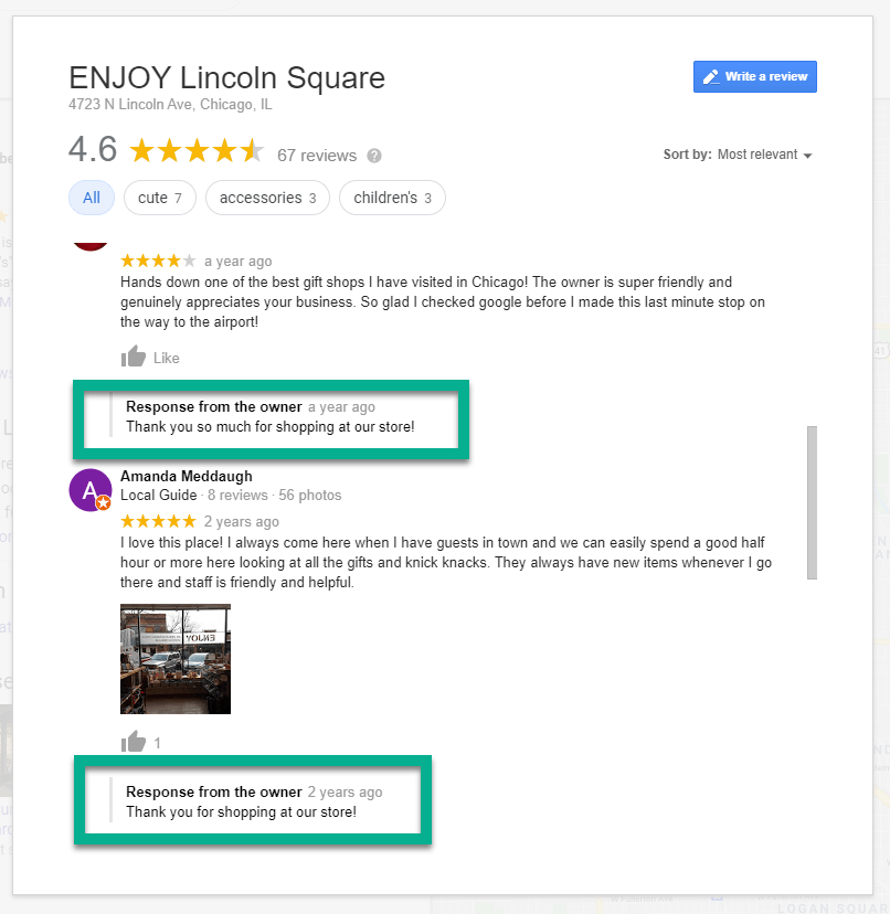 response from owner - how to use Google My Business