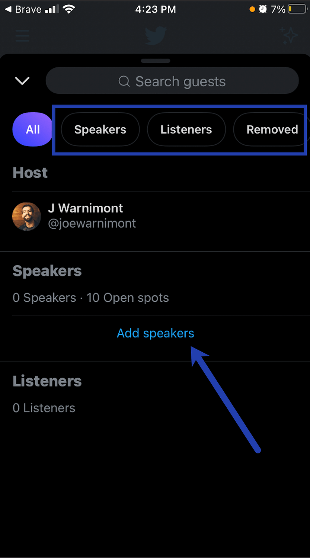 add speakers link.