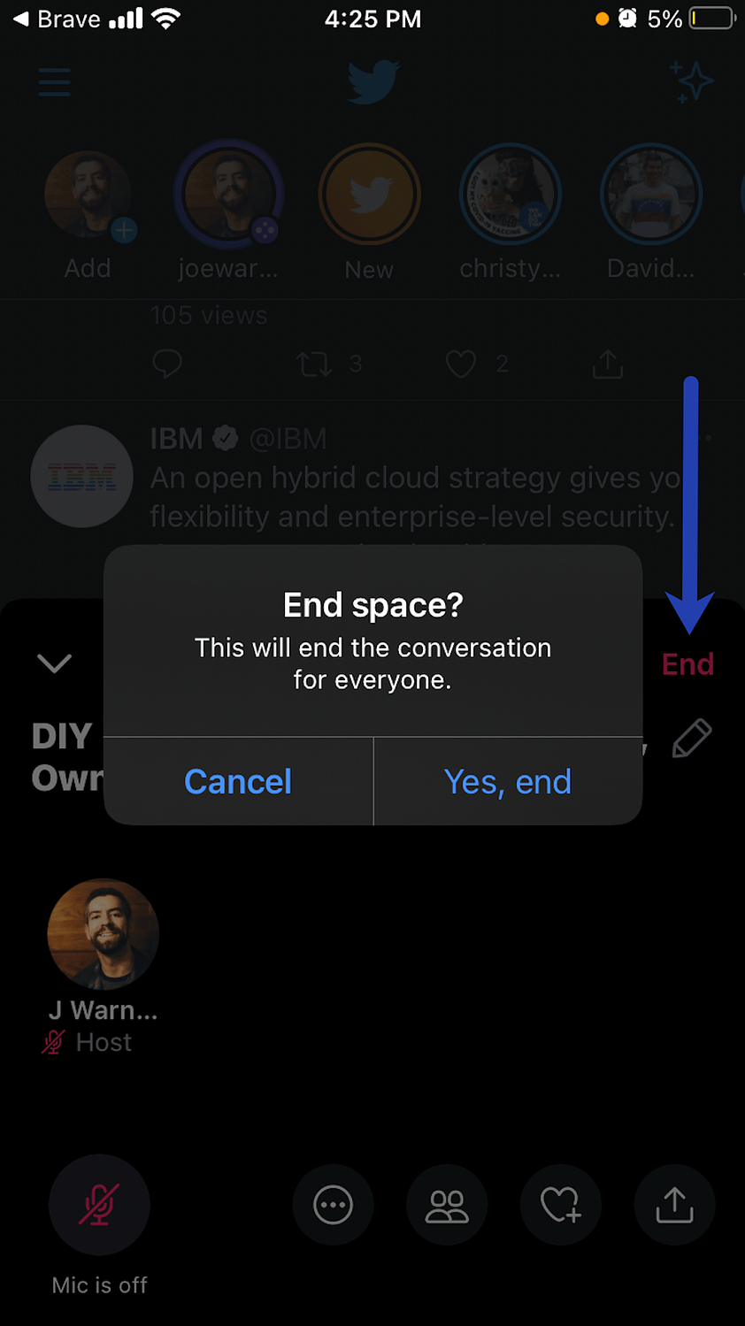 end space - Twitter Spaces.