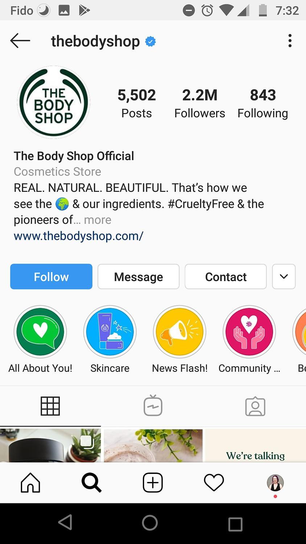 The Body Shop Profile