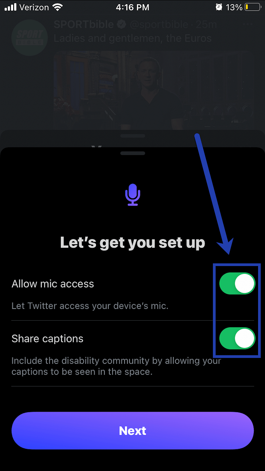 allow mic access on phone.