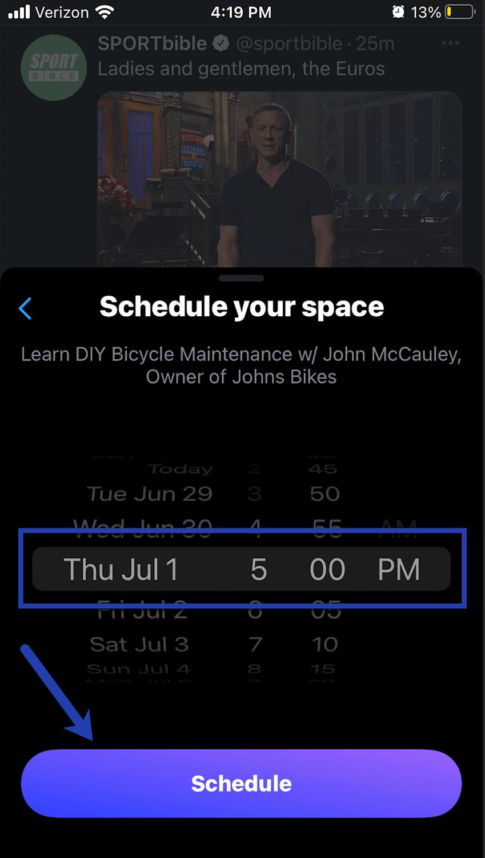 schedule Twitter Spaces