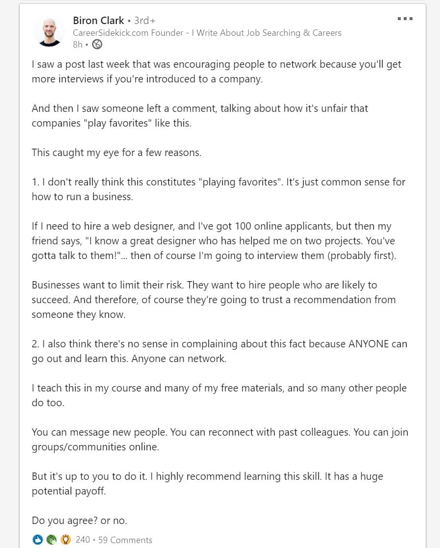 story - LinkedIn engagement