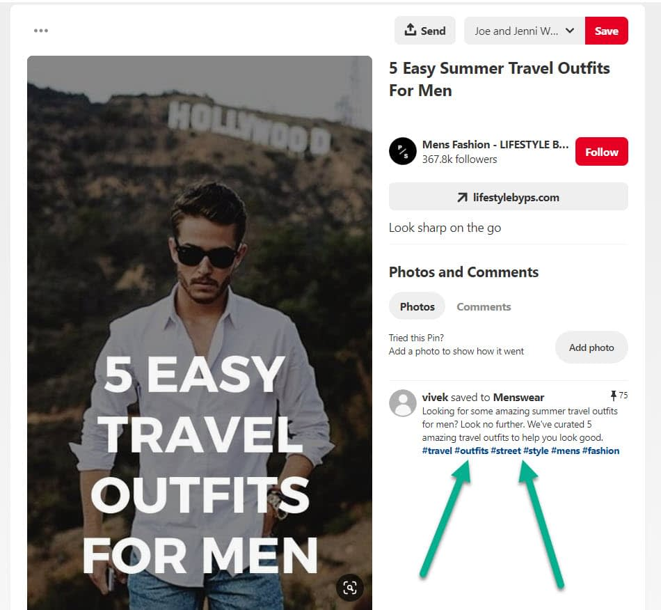 hashtags - Pinterest marketing
