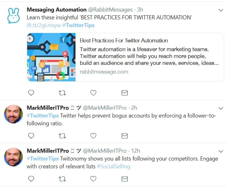 TwitterTips hashtag