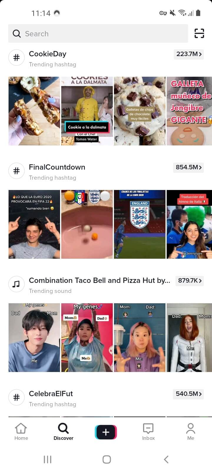 The TikTok discover page is full of TikTok content ideas that resonate with audiences.