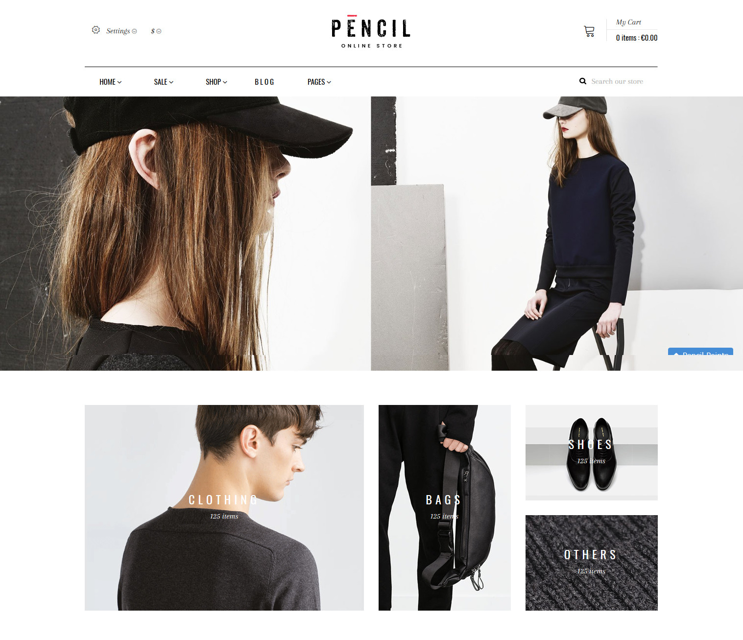 Pencil theme for Shopify