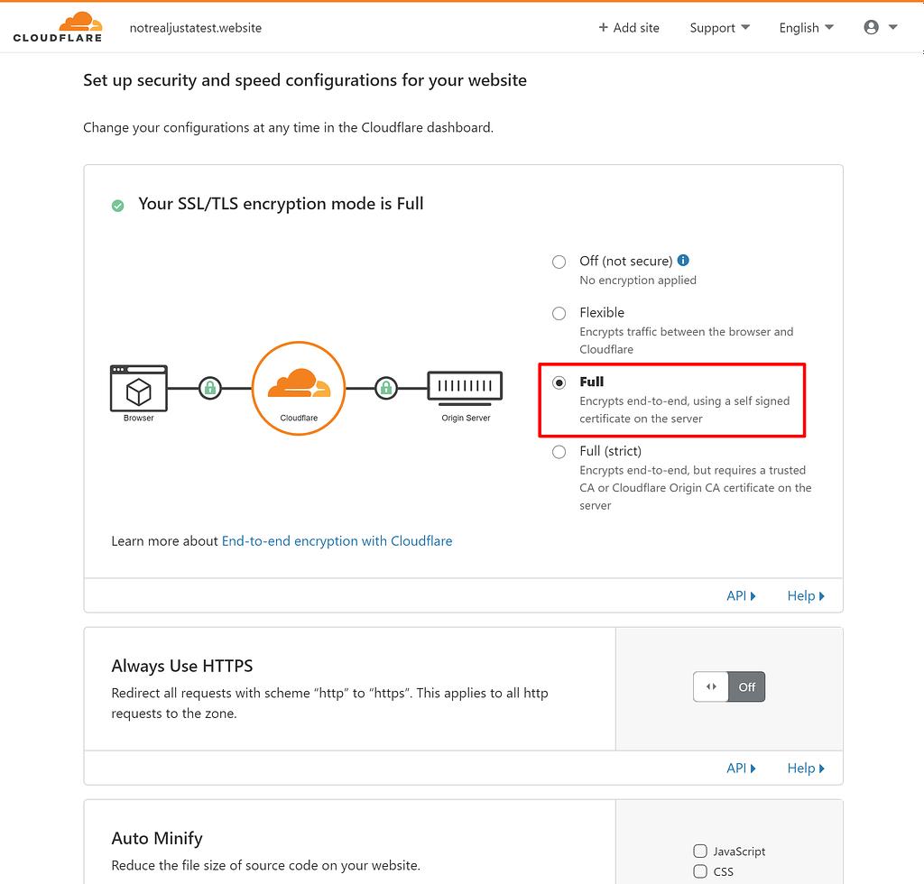 Configure Cloudflare SSL for WordPress