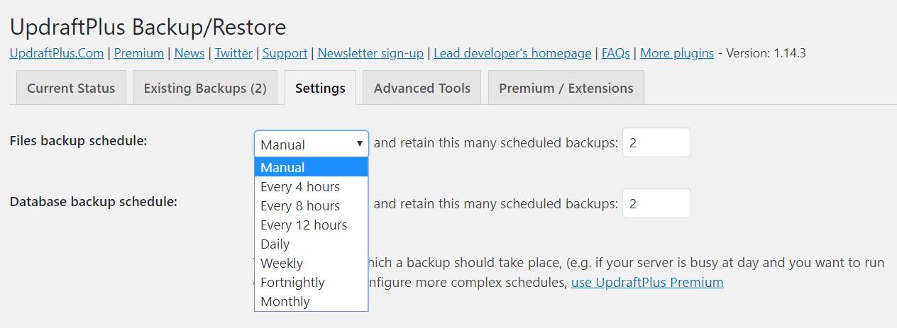 Scheduled Backups