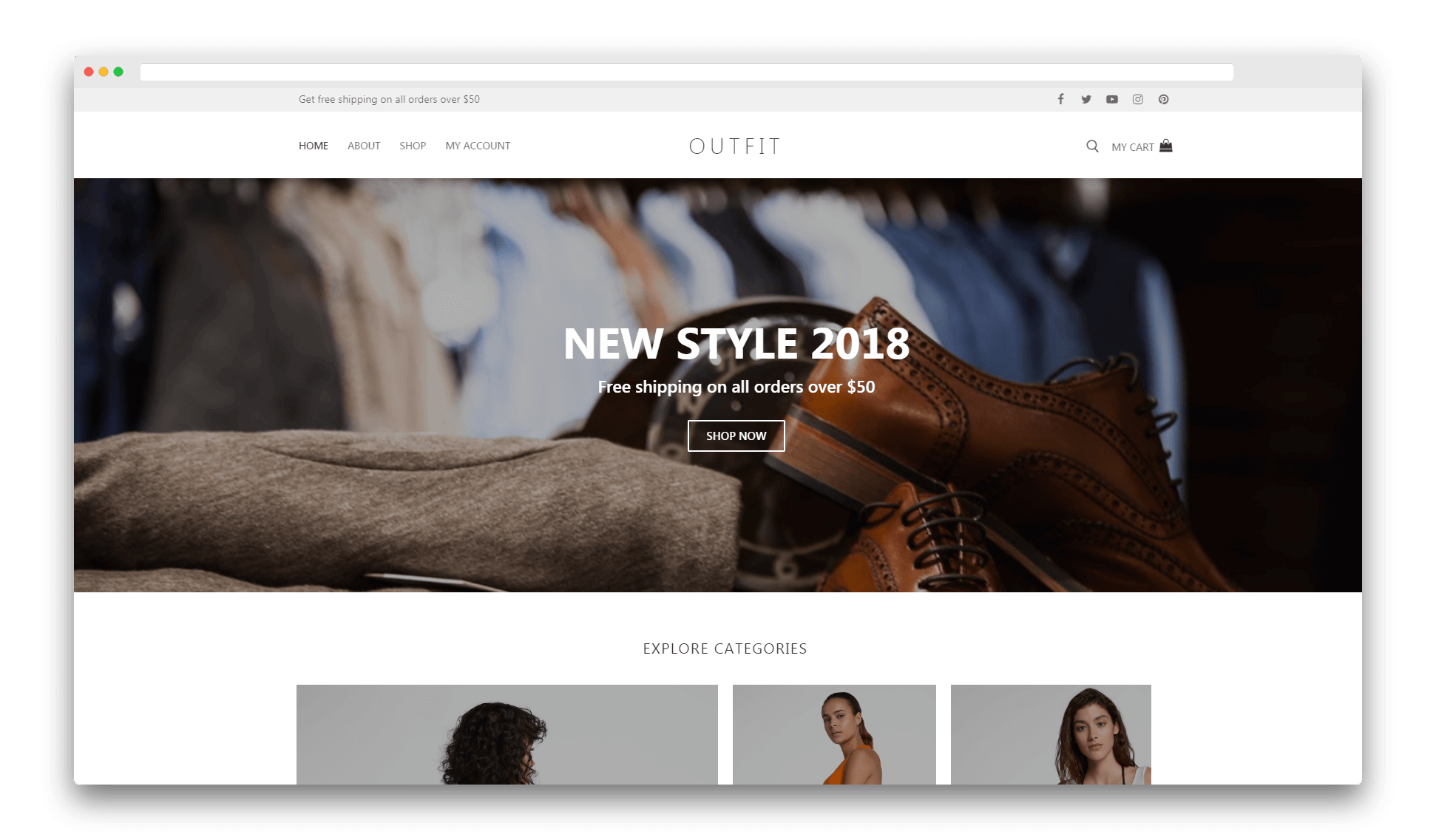 The Customify theme demo.