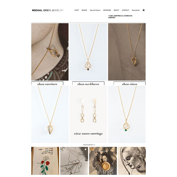 wix made online jewellery store