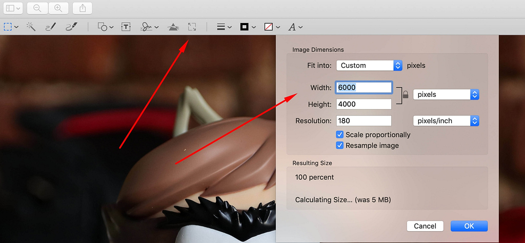 How to reduce image size: Mac