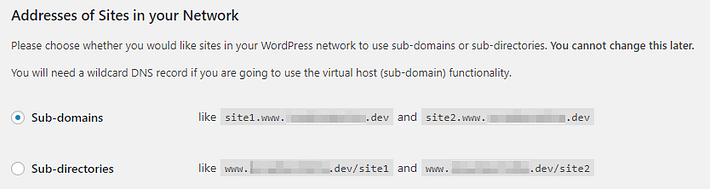 Choosing the URL structure for your network.