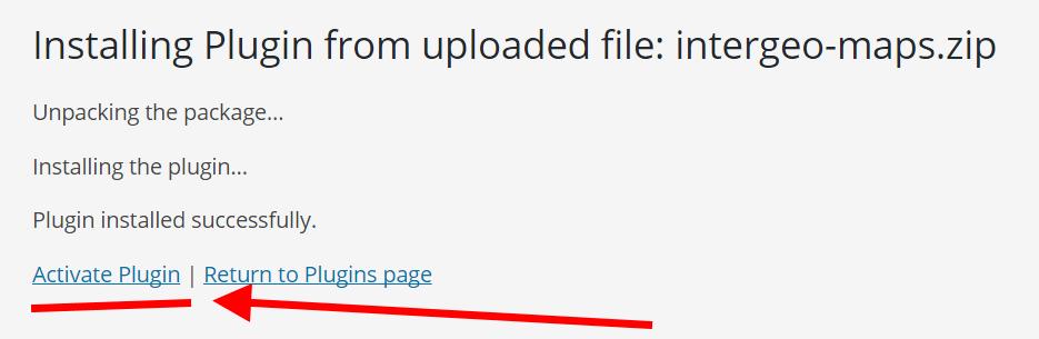 plugin install complete