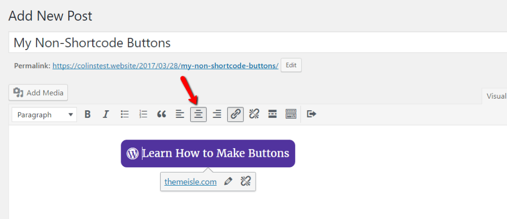 align your button