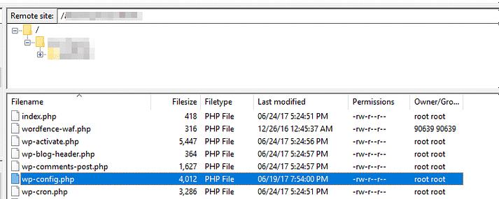 WordPress' root folder.