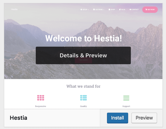install hestia