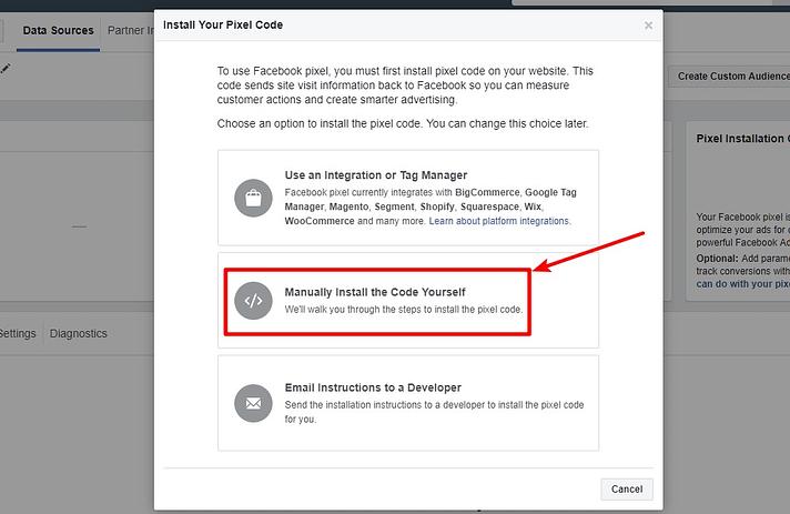 get facebook pixel tracking code