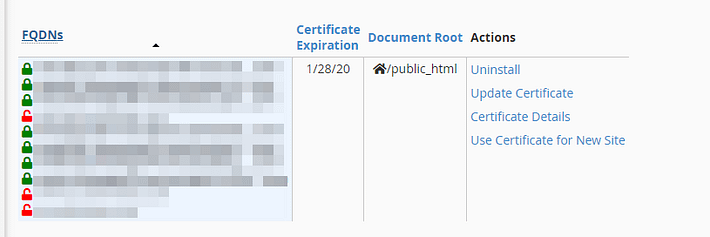 Updating your domain's certificates.