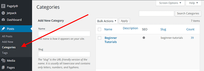What are Categories in WordPress?