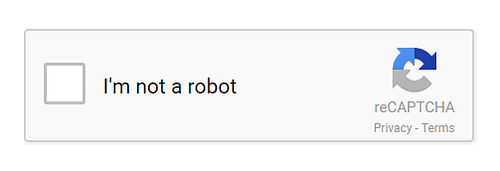 A Google CAPTCHA with a check box.